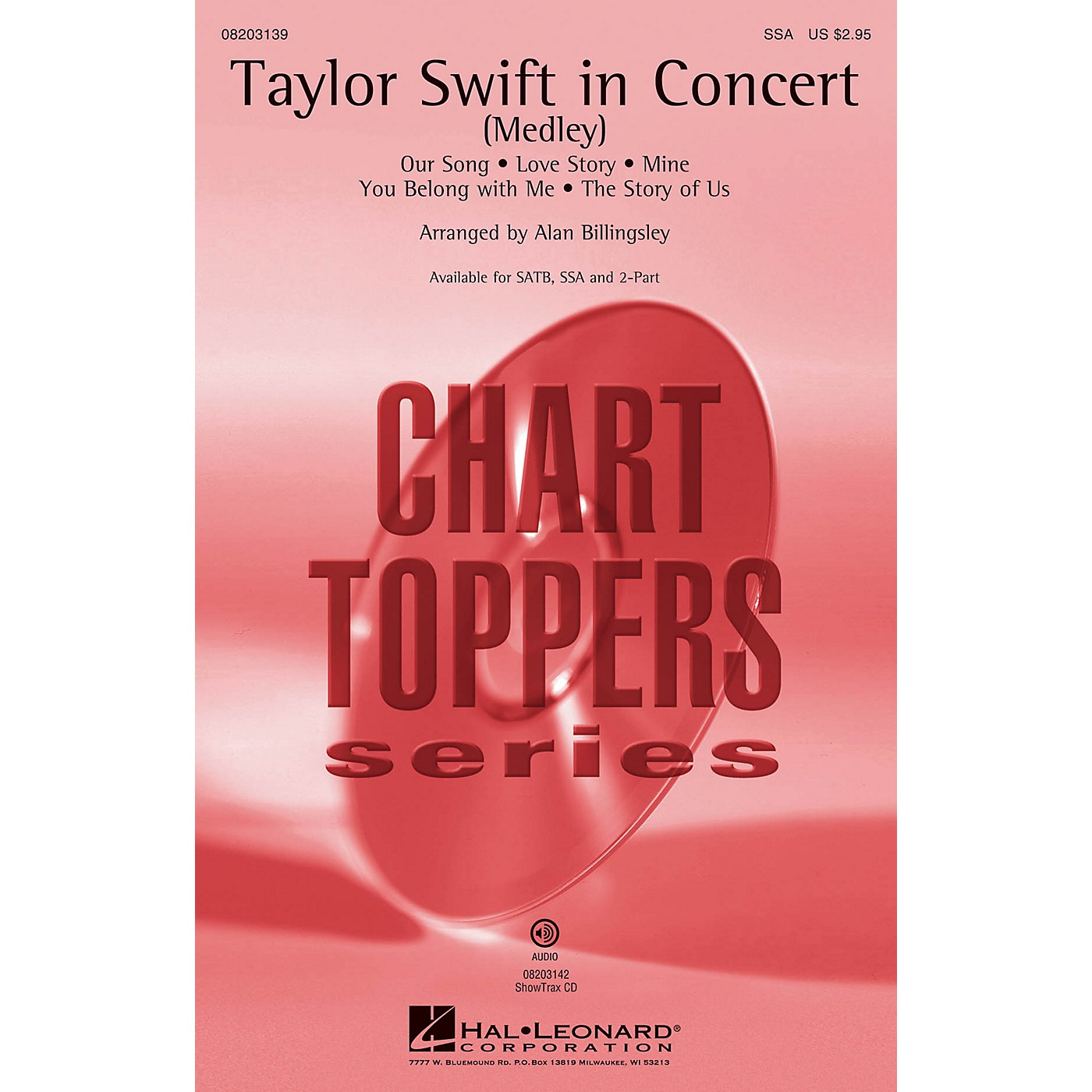 Hal Leonard Taylor Swift in Concert (Medley) 2-Part by Taylor Swift Arranged by Alan Billingsley thumbnail