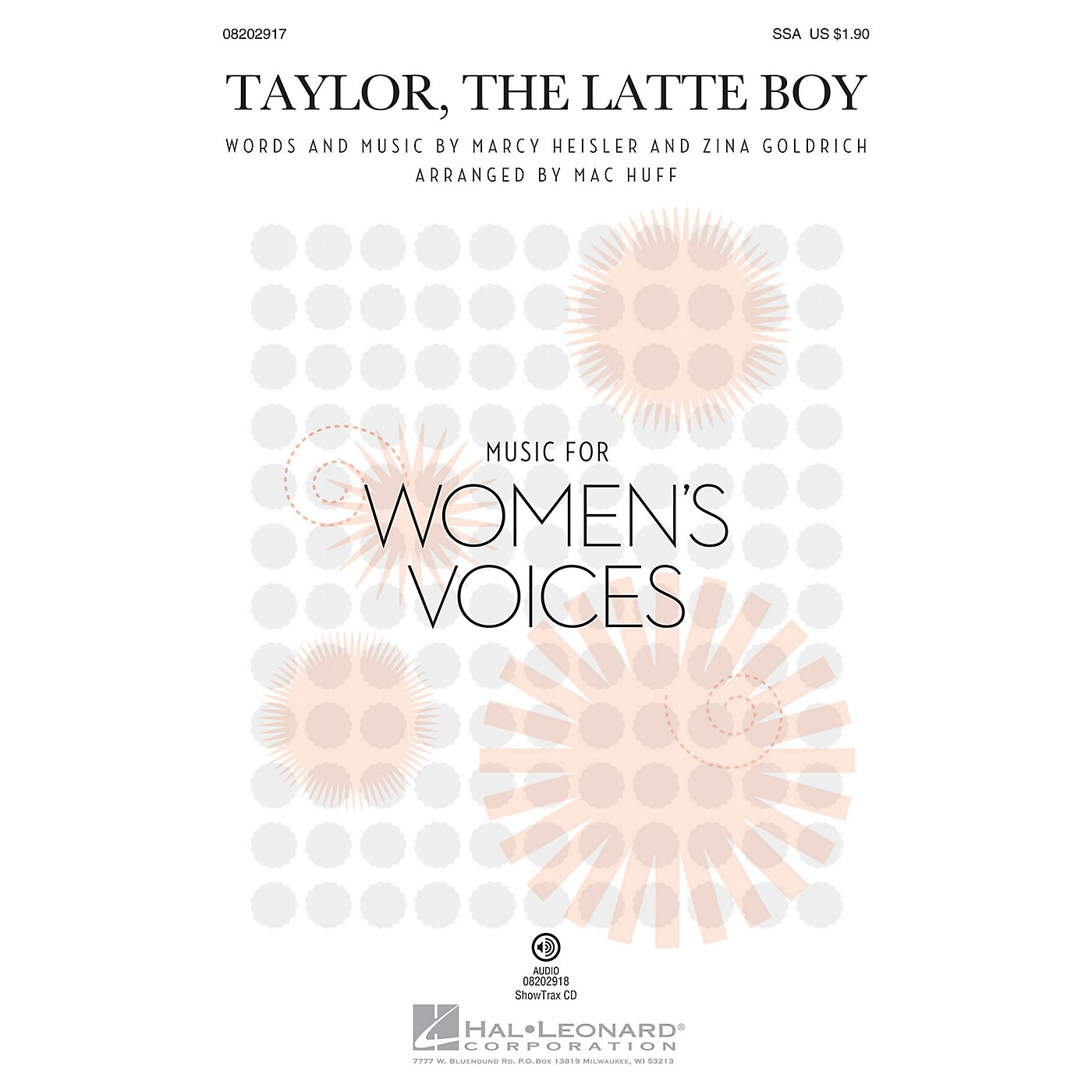 Hal Leonard Taylor, the Latte Boy ShowTrax CD by Marcy Heisler Arranged by Mac Huff thumbnail