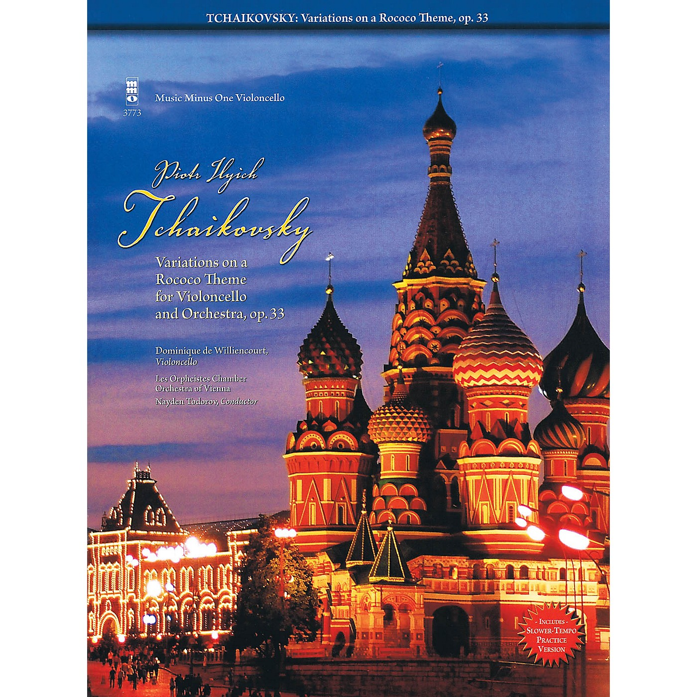 Music Minus One Tchaikovsky - Variations on a Rococo Theme For Violoncello Music Minus One Bk/CD by Tchaikovsky thumbnail