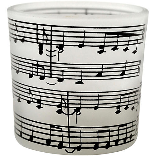 AIM Tea Light with Frosted Music Staff Candle Holder thumbnail