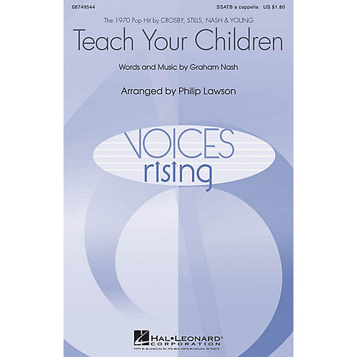 Hal Leonard Teach Your Children SSATB A Cappella by Crosby, Stills, Nash & Young arranged by Philip Lawson thumbnail