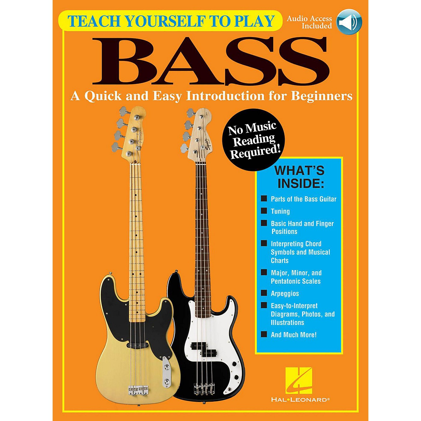 Hal Leonard Teach Yourself To Play Bass - A Quick & Easy Introduction For Beginners (Book/Online Audio) thumbnail