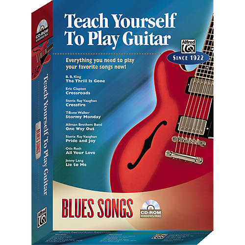 Alfred Teach Yourself To Play Guitar: Blues Songs (CD-ROM)-thumbnail