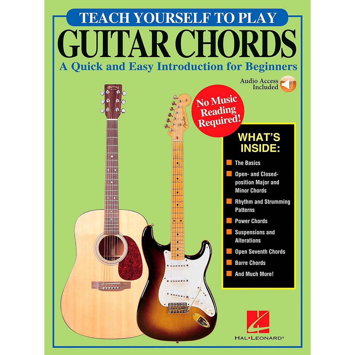 Hal Leonard Teach Yourself To Play Guitar Chords (Book/Online Audio) thumbnail