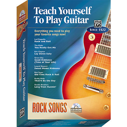 Alfred Teach Yourself To Play Guitar: Rock Songs (CD-ROM) thumbnail