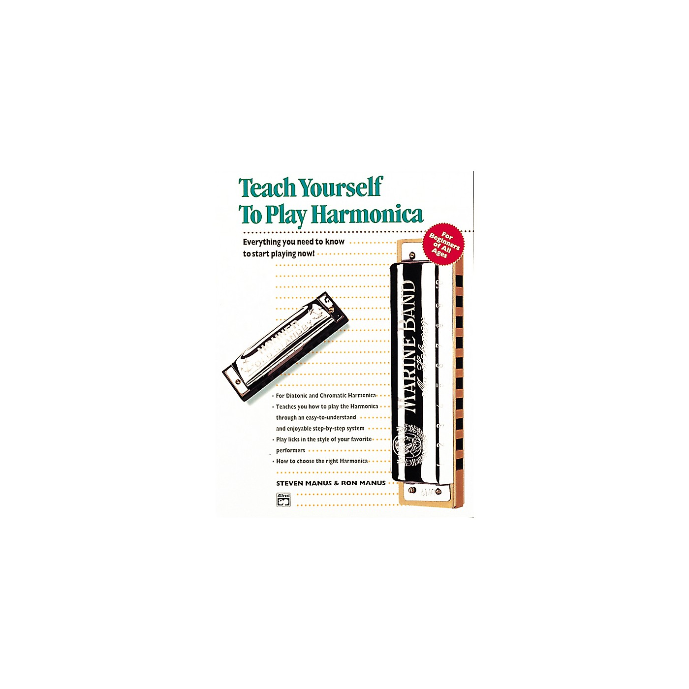 Alfred Teach Yourself To Play Harmonica Book/CD thumbnail