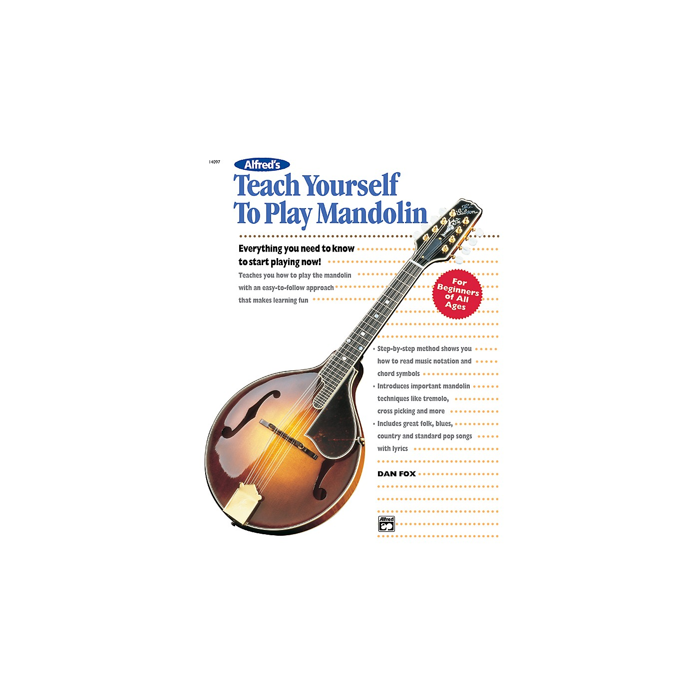 Alfred Teach Yourself To Play Mandolin Book thumbnail