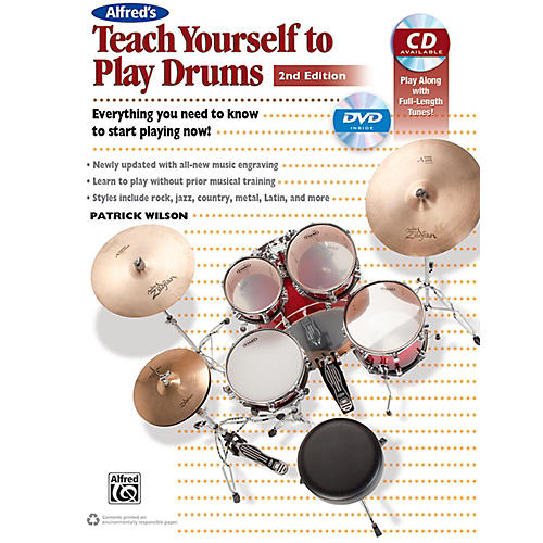 Alfred Teach Yourself to Play Drums (2nd Edition) Book & CD thumbnail