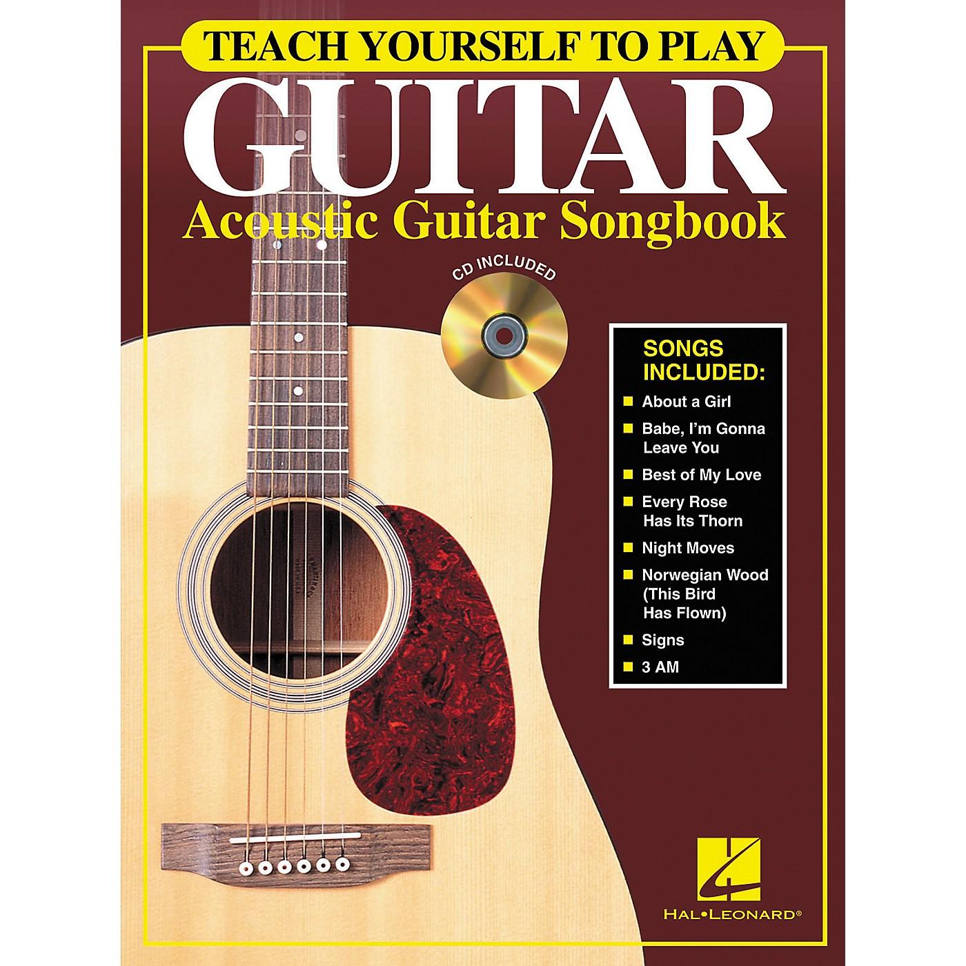 Hal Leonard Teach Yourself to Play Guitar - Acoustic Guitar (Songbook/CD) thumbnail