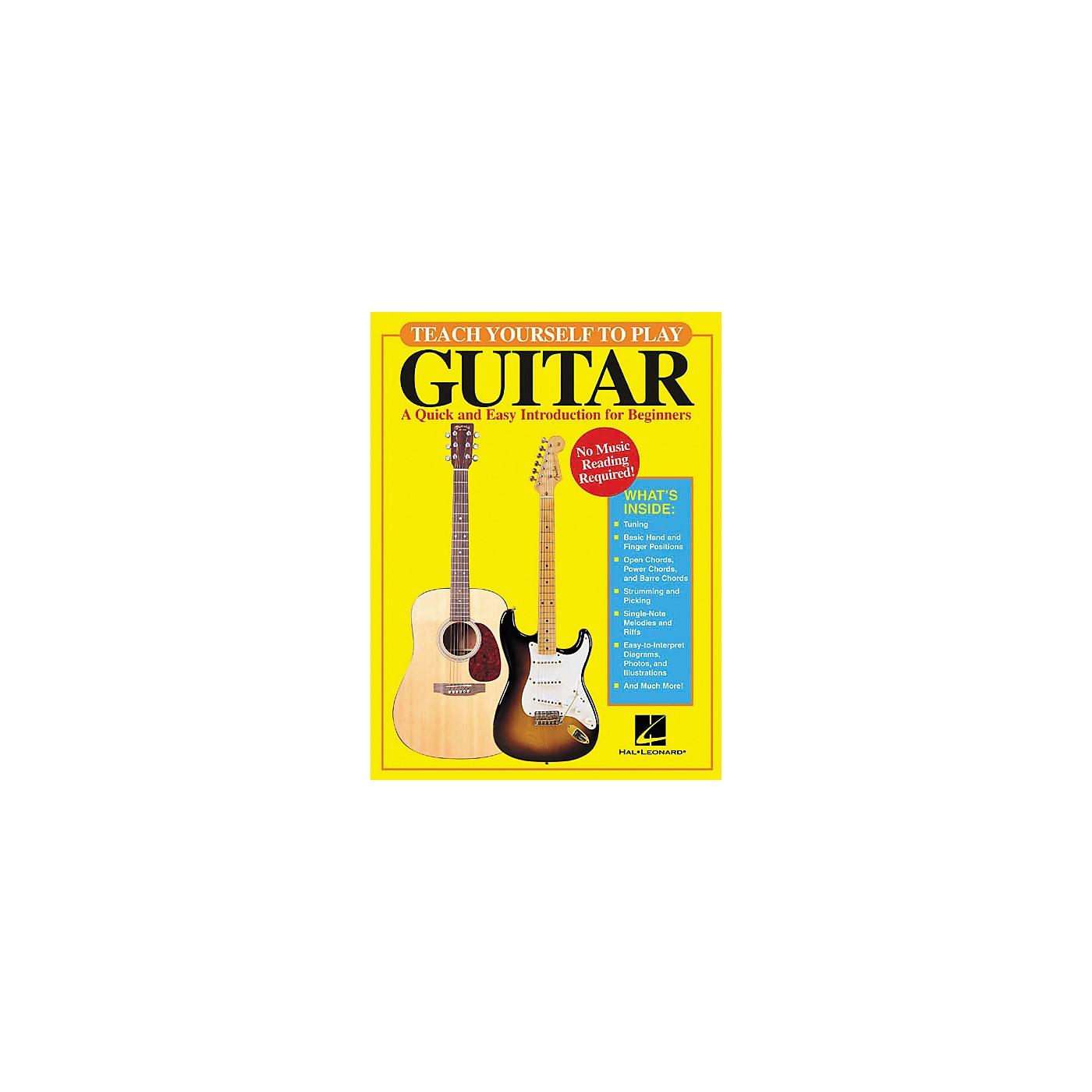 Hal Leonard Teach Yourself to Play Guitar Book thumbnail