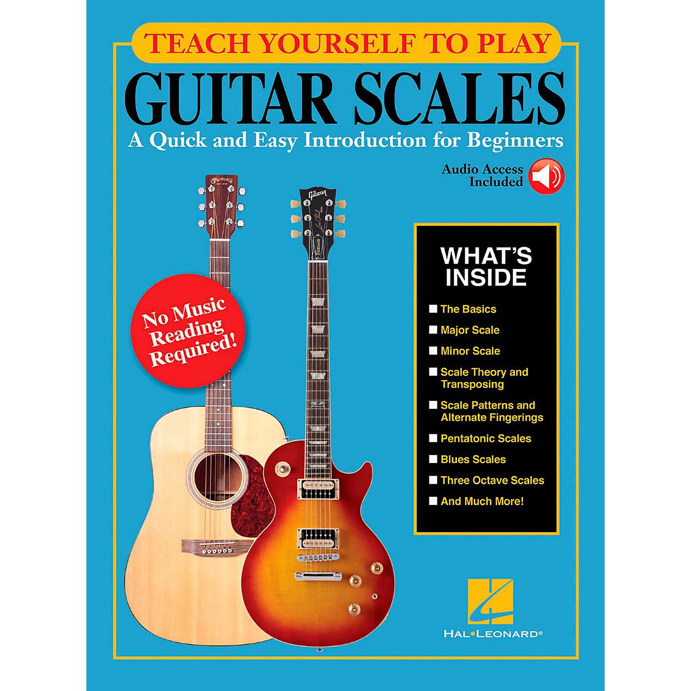 Hal Leonard Teach Yourself to Play Guitar Scales Book/Video Online thumbnail