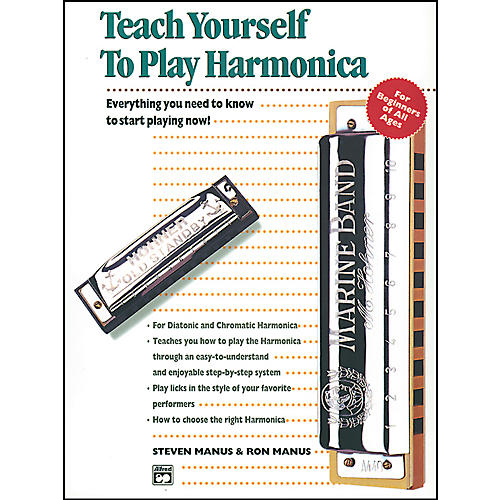 Alfred Teach Yourself to Play Harmonica Book thumbnail