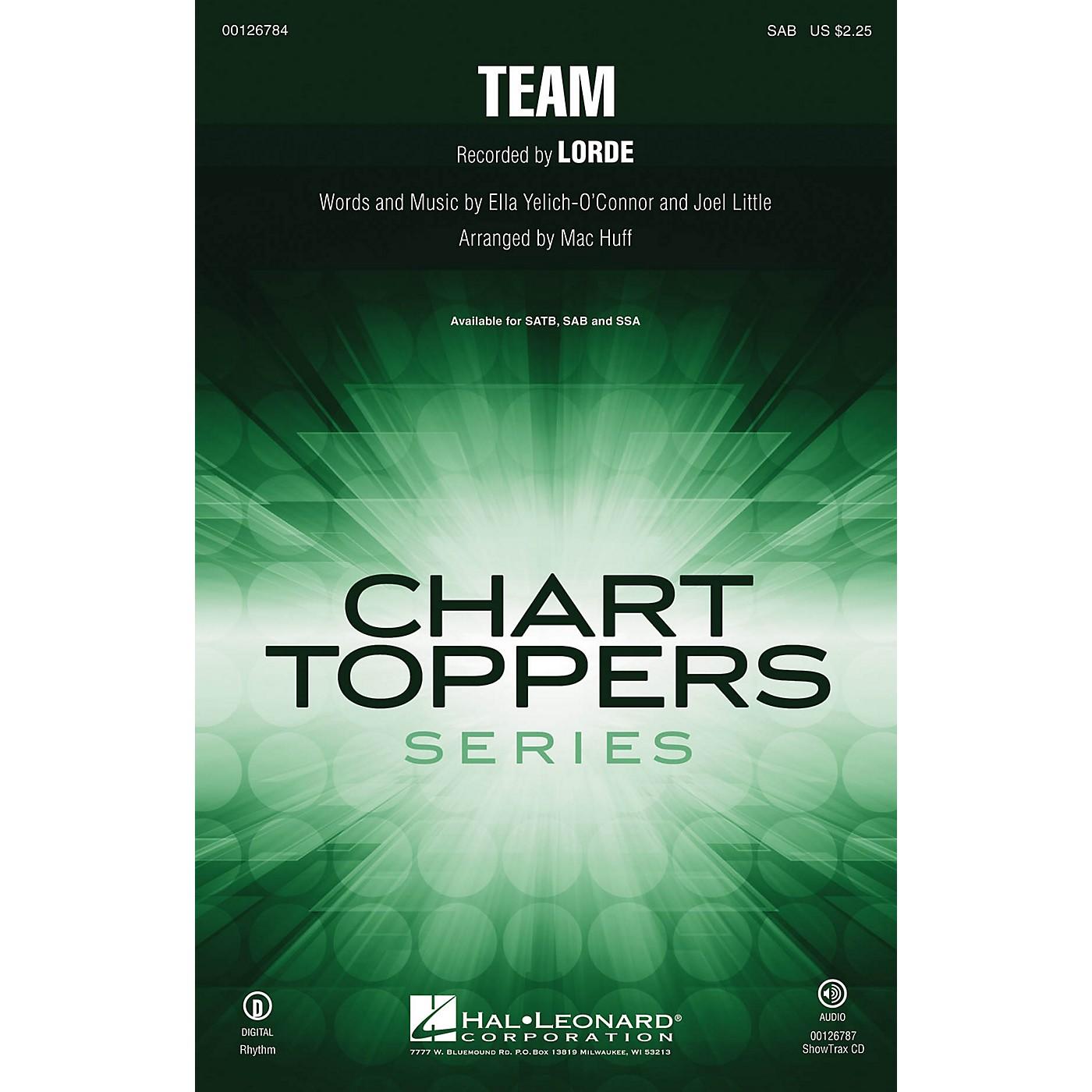 Hal Leonard Team SAB by Lorde arranged by Mac Huff thumbnail