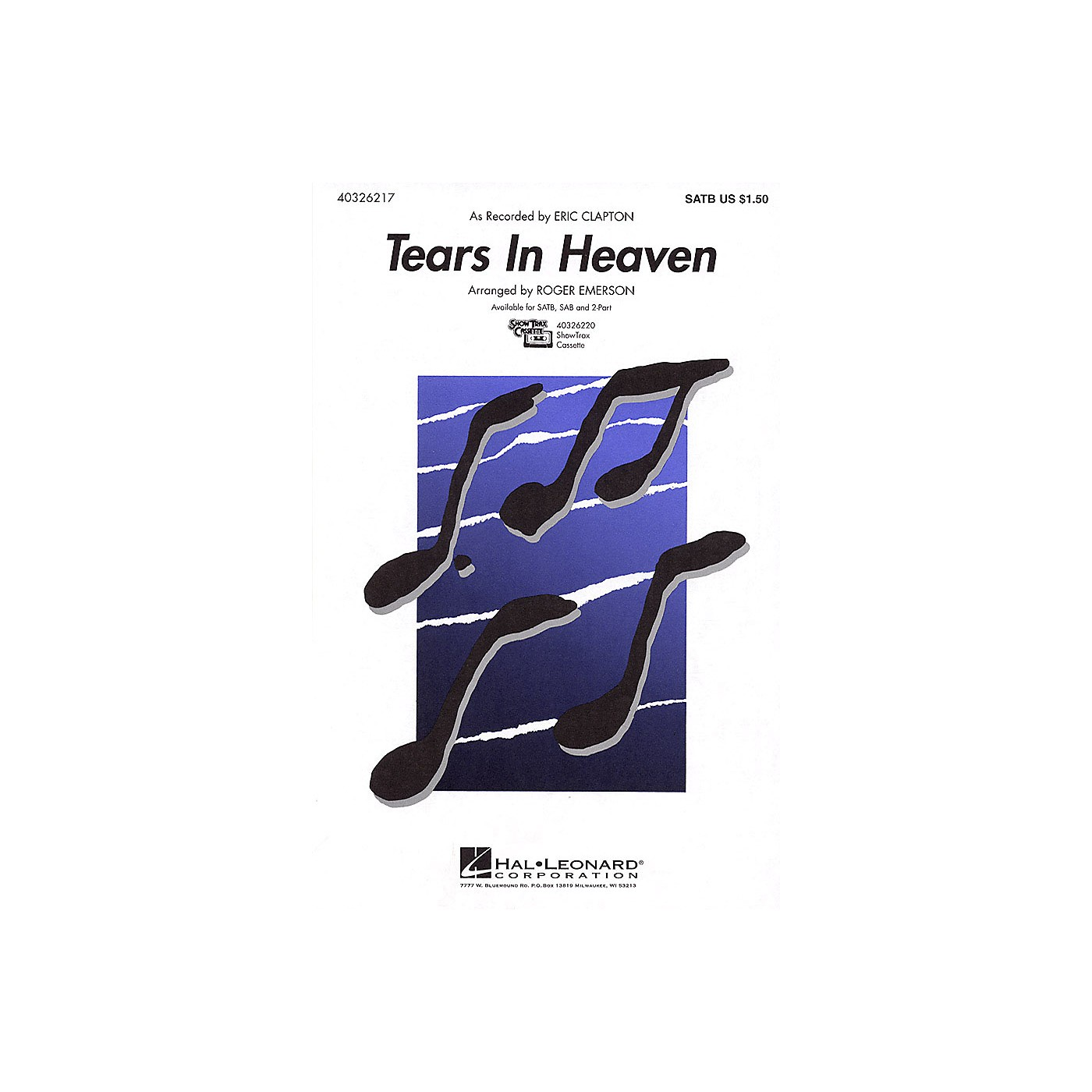 Hal Leonard Tears in Heaven 2-Part by Eric Clapton Arranged by Roger Emerson thumbnail