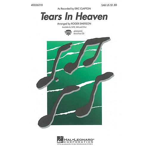 Hal Leonard Tears in Heaven SAB by Eric Clapton arranged by Roger Emerson thumbnail