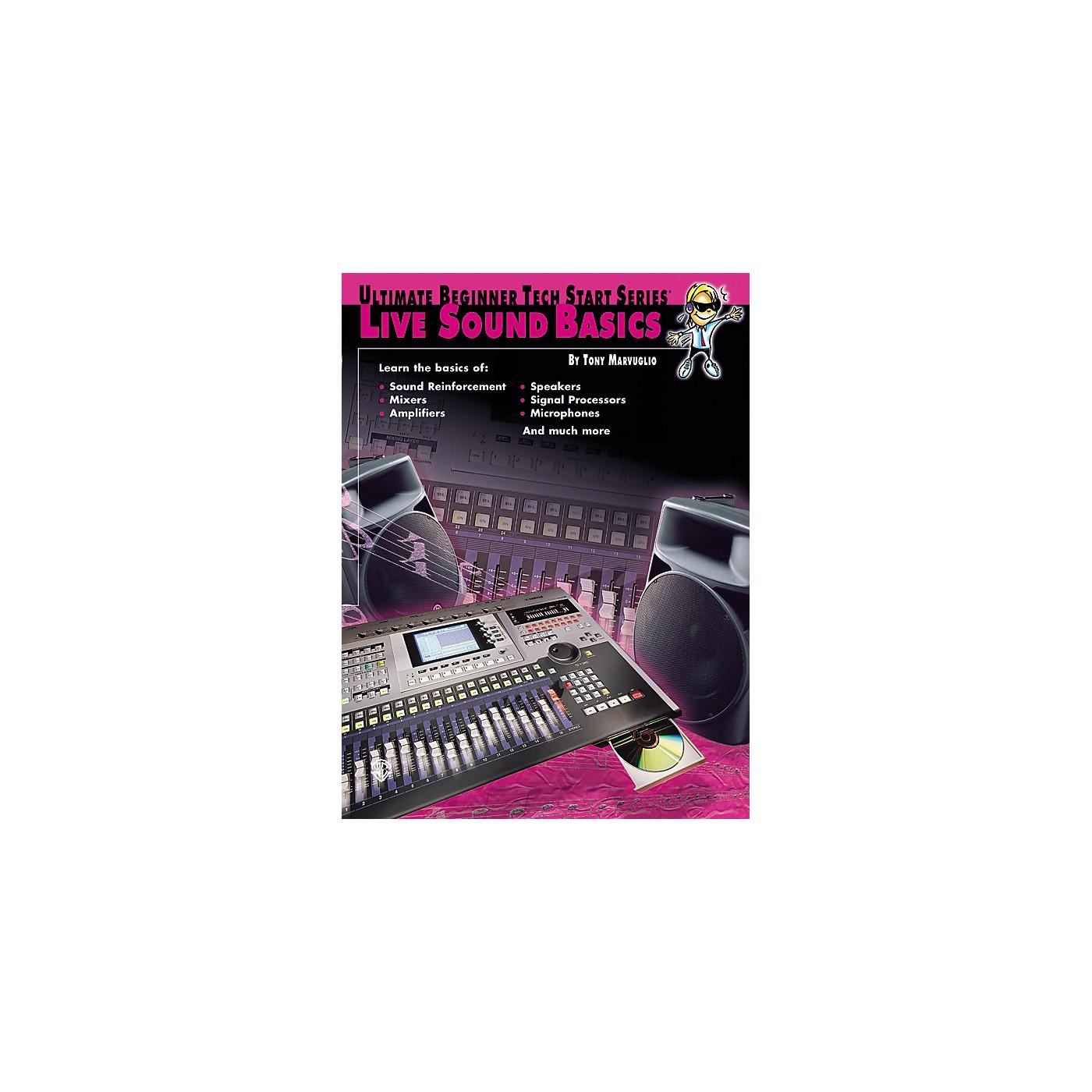 Alfred Tech Start Live Sound Basics Book thumbnail