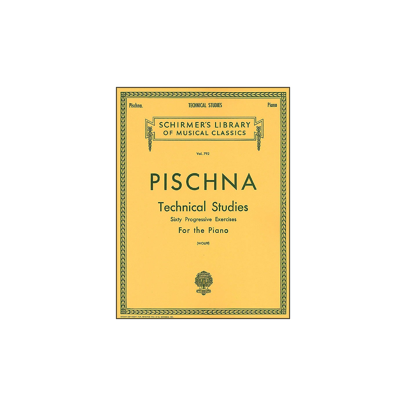 G. Schirmer Technical Studies Piano 60 Progressive Exercises By Pischna thumbnail