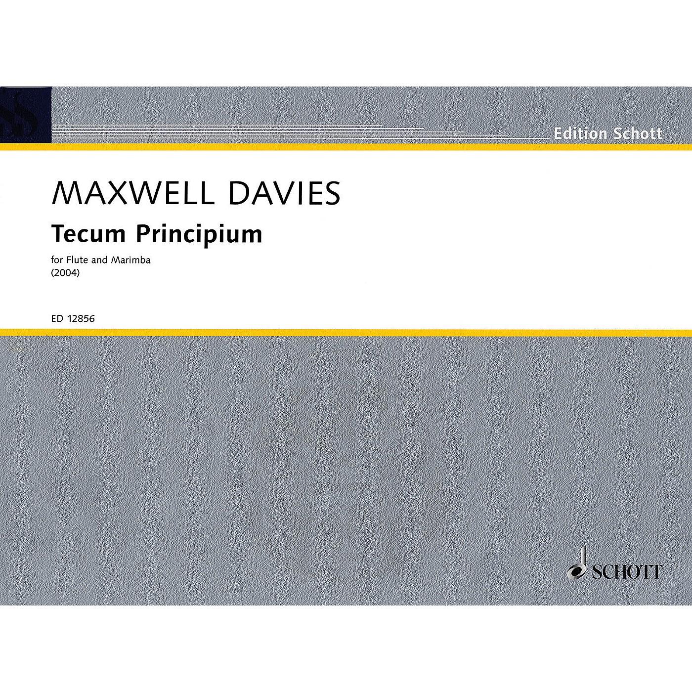Schott Tecum Principium (2004) Misc Series Composed by Peter Maxwell Davies thumbnail