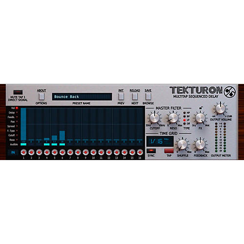 D16 Group Tekturon Multitap Sequenced Delay Plug-in thumbnail