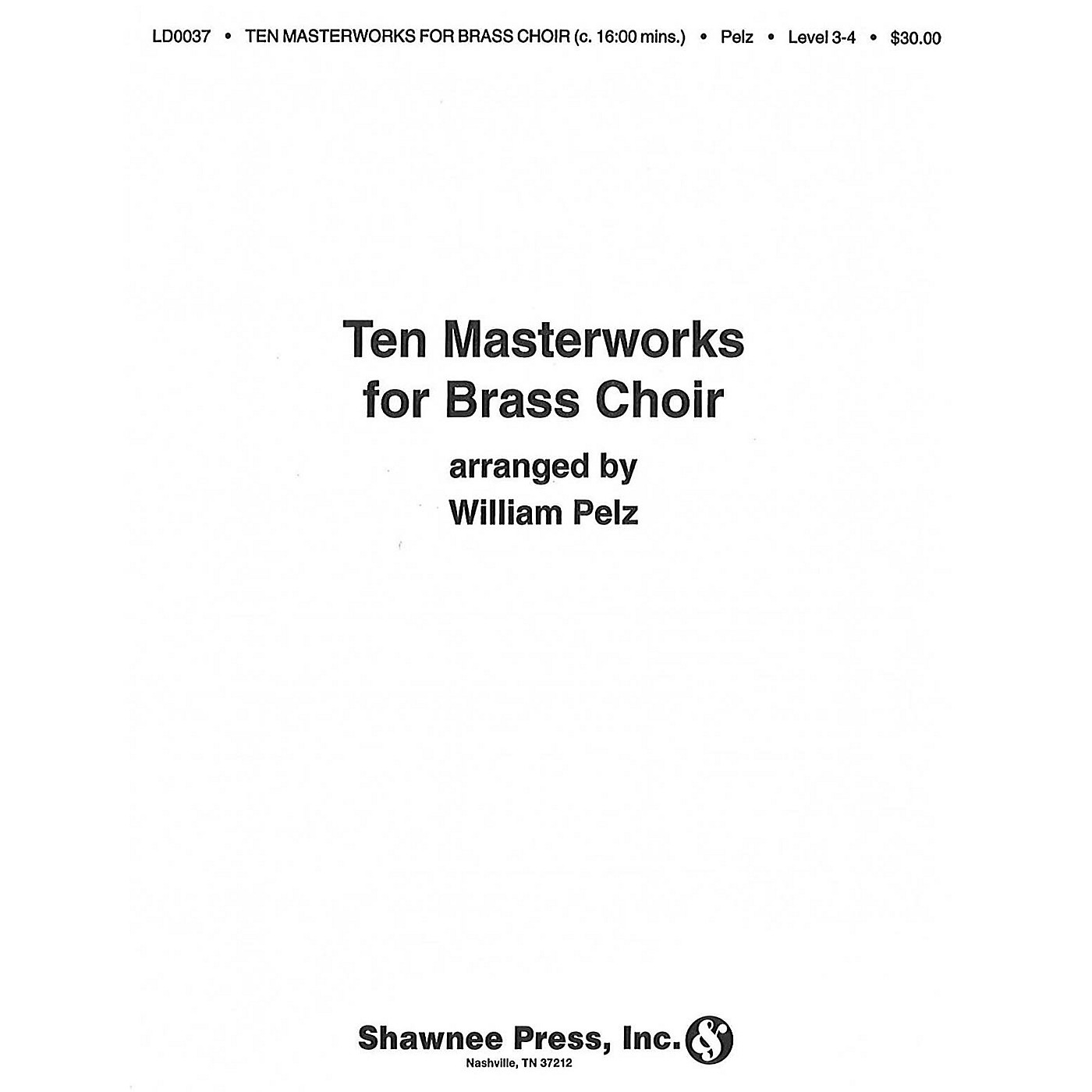 Hal Leonard Ten Masterworks for Brass Choir Brass Choir thumbnail