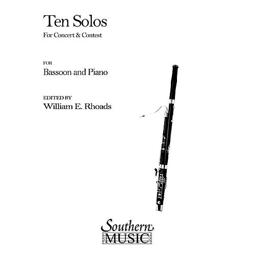 Southern Ten Solos for Concert and Contest (Bassoon) Southern Music Series Arranged by William Rhoads thumbnail