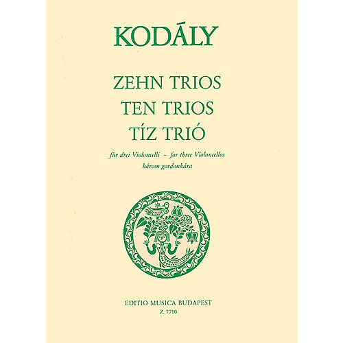 Editio Musica Budapest Ten Trios (from 33 Two-Part Exercises) (Three Cellos) EMB Series Composed by Zoltán Kodály thumbnail