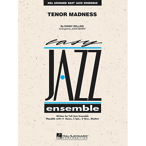 Hal Leonard Tenor Madness Jazz Band Level 2 by Sonny Rollins Arranged by John Berry thumbnail