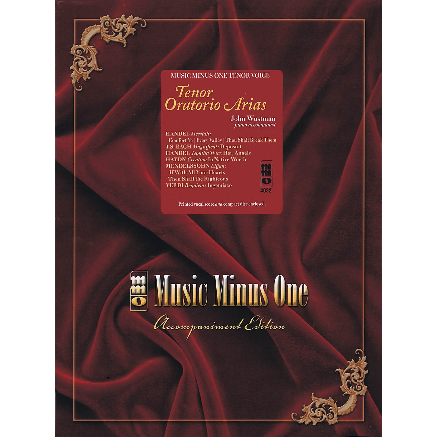Music Minus One Tenor Oratorio Arias Music Minus One Series Softcover with CD  by Various thumbnail