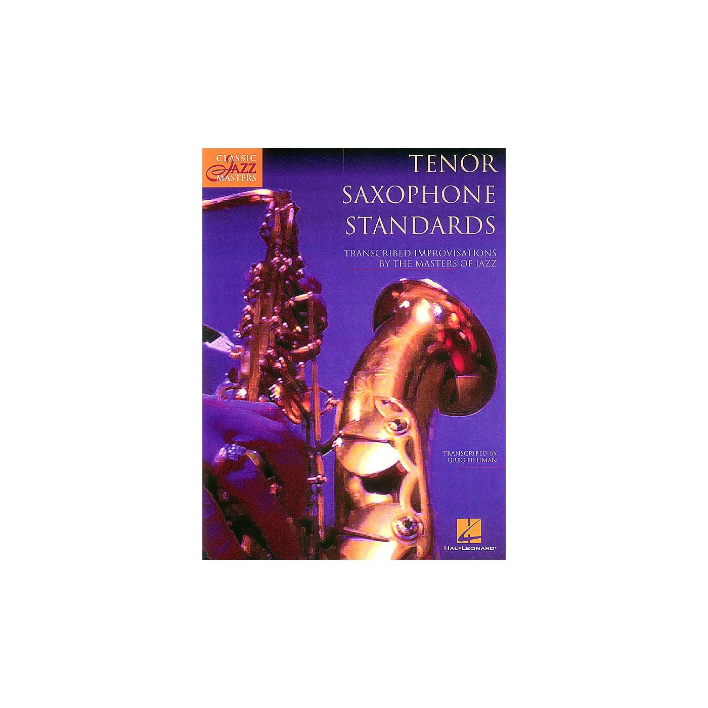 Hal Leonard Tenor Saxophone Standards (Classic Jazz Masters) Classic Jazz Masters Series Book thumbnail