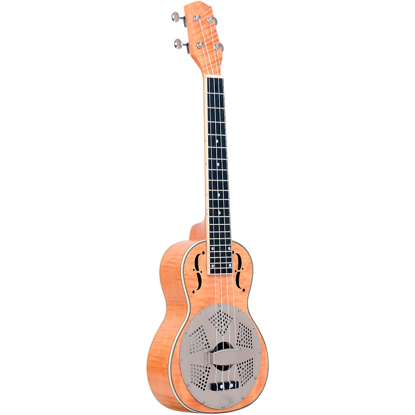 Gold Tone Tenor-Scale Curly Maple Resonator Ukulele with Gig Bag thumbnail