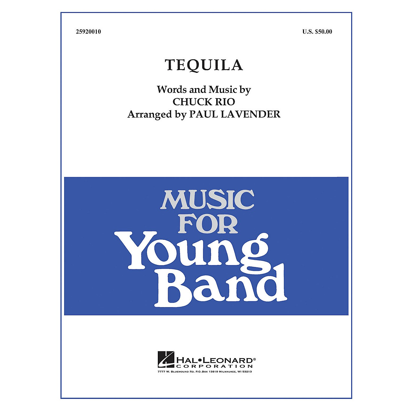 Hal Leonard Tequila - Young Concert Band Level 3 arranged by Paul Lavender thumbnail