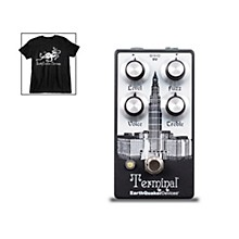 EarthQuaker Devices Terminal V2 Fuzz Guitar Effects Pedal and Octoskull T-Shirt Large Black