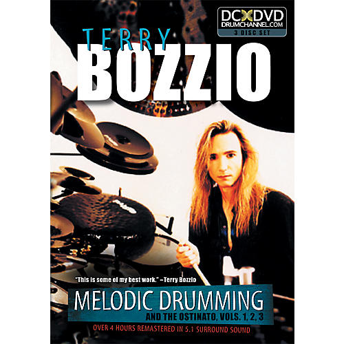 The Drum Channel Terry Bozzio - Melodic Drumming and the Ostinato Vol. 1, 2, 3   3 DVD SET thumbnail