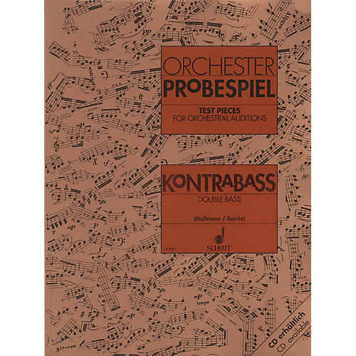 Schott Test Pieces for Orchestra - Double Bass Schott Series Composed by Various Arranged by Fritz Massmann thumbnail