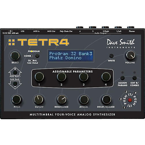Dave Smith Instruments Tetra Multitimbral Four-Voice Analog Synthesizer thumbnail