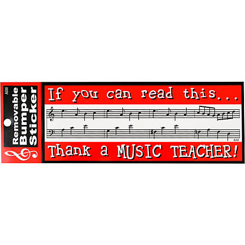 AIM Thank A Music Teacher Bumper Sticker thumbnail
