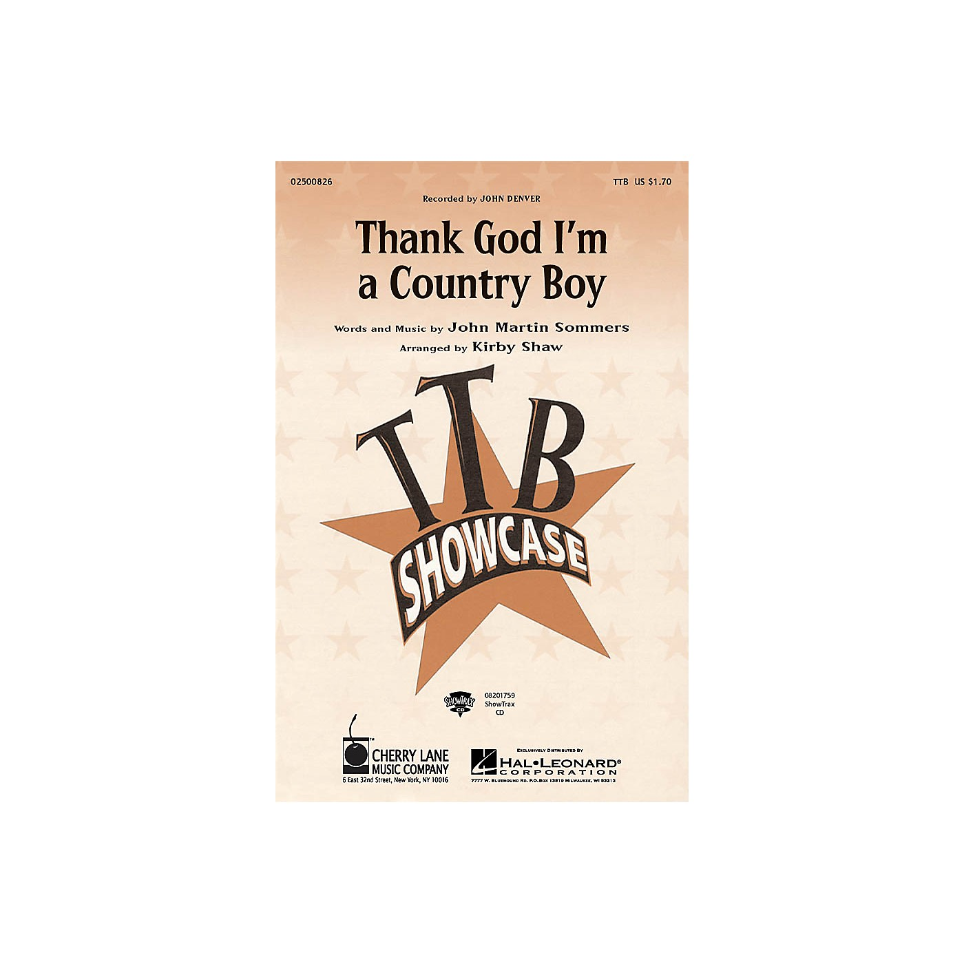 Cherry Lane Thank God I'm a Country Boy TTB by John Denver arranged by Kirby Shaw thumbnail