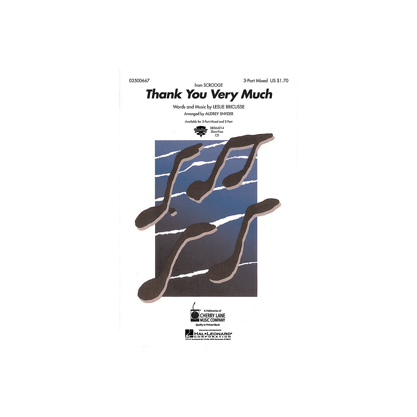 Hal Leonard Thank You Very Much ShowTrax CD Arranged by Audrey Snyder thumbnail