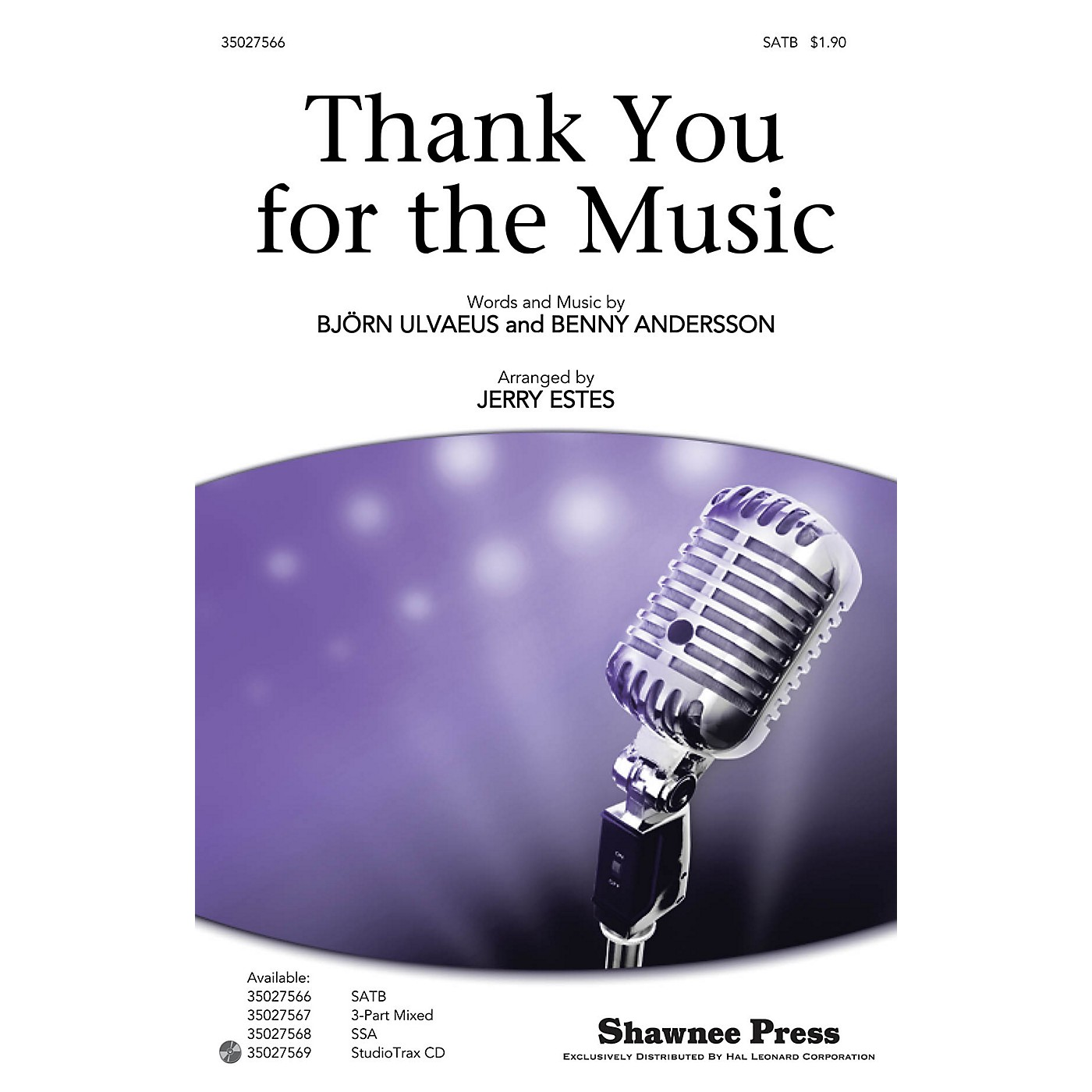 Shawnee Press Thank You for the Music SATB by ABBA arranged by Jerry Estes thumbnail