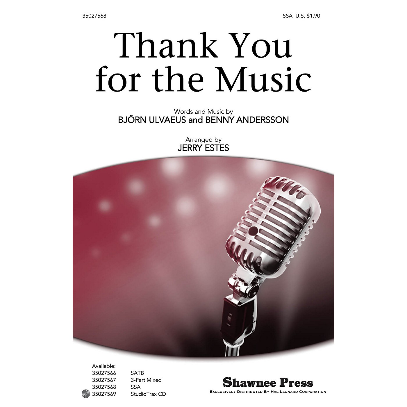 Shawnee Press Thank You for the Music Studiotrax CD by ABBA Arranged by Jerry Estes thumbnail