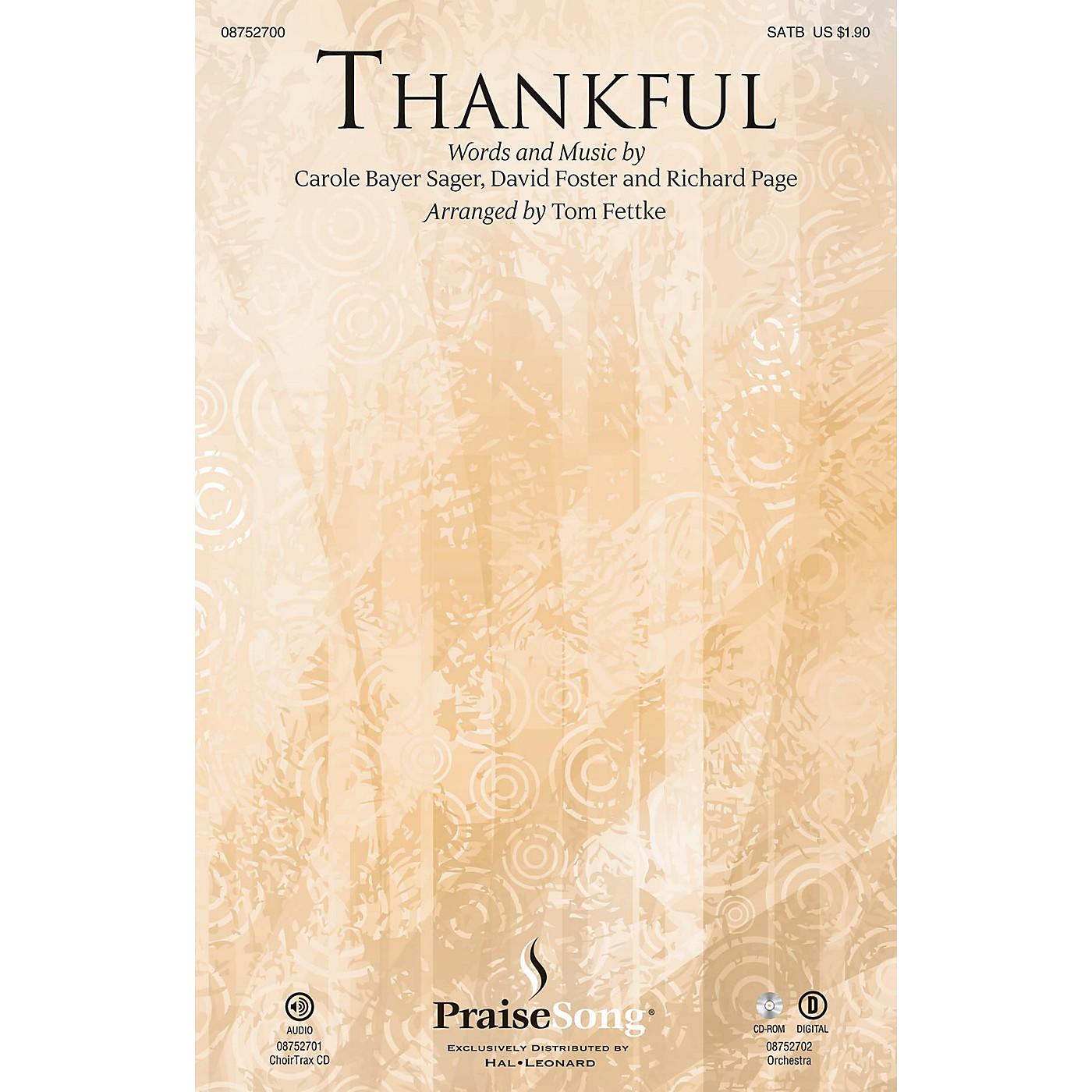 PraiseSong Thankful CHOIRTRAX CD by Josh Groban Arranged by Tom Fettke thumbnail