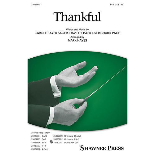 Shawnee Press Thankful SAB arranged by Mark Hayes thumbnail