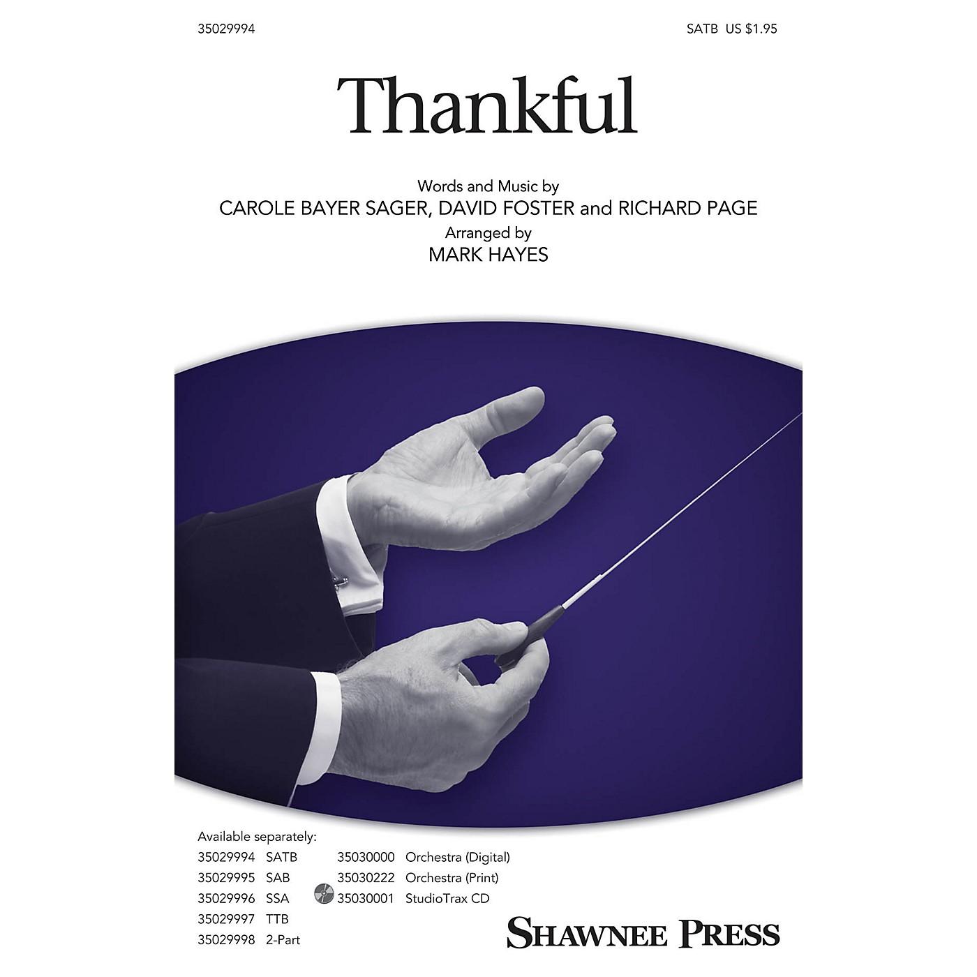 Shawnee Press Thankful Studiotrax CD Arranged by Mark Hayes thumbnail
