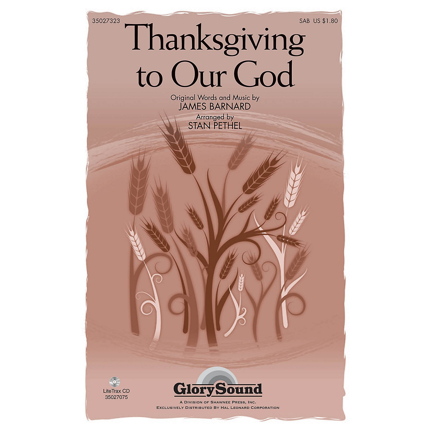 Shawnee Press Thanksgiving to Our God SAB arranged by Stan Pethel thumbnail
