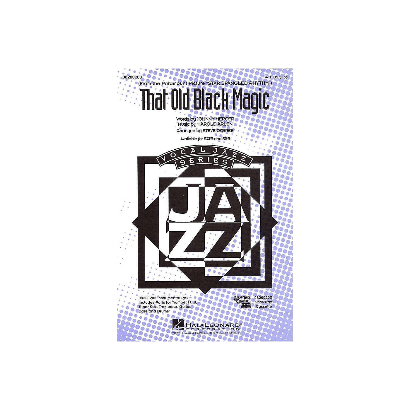 Hal Leonard That Old Black Magic Combo Parts Arranged by Steve Zegree thumbnail