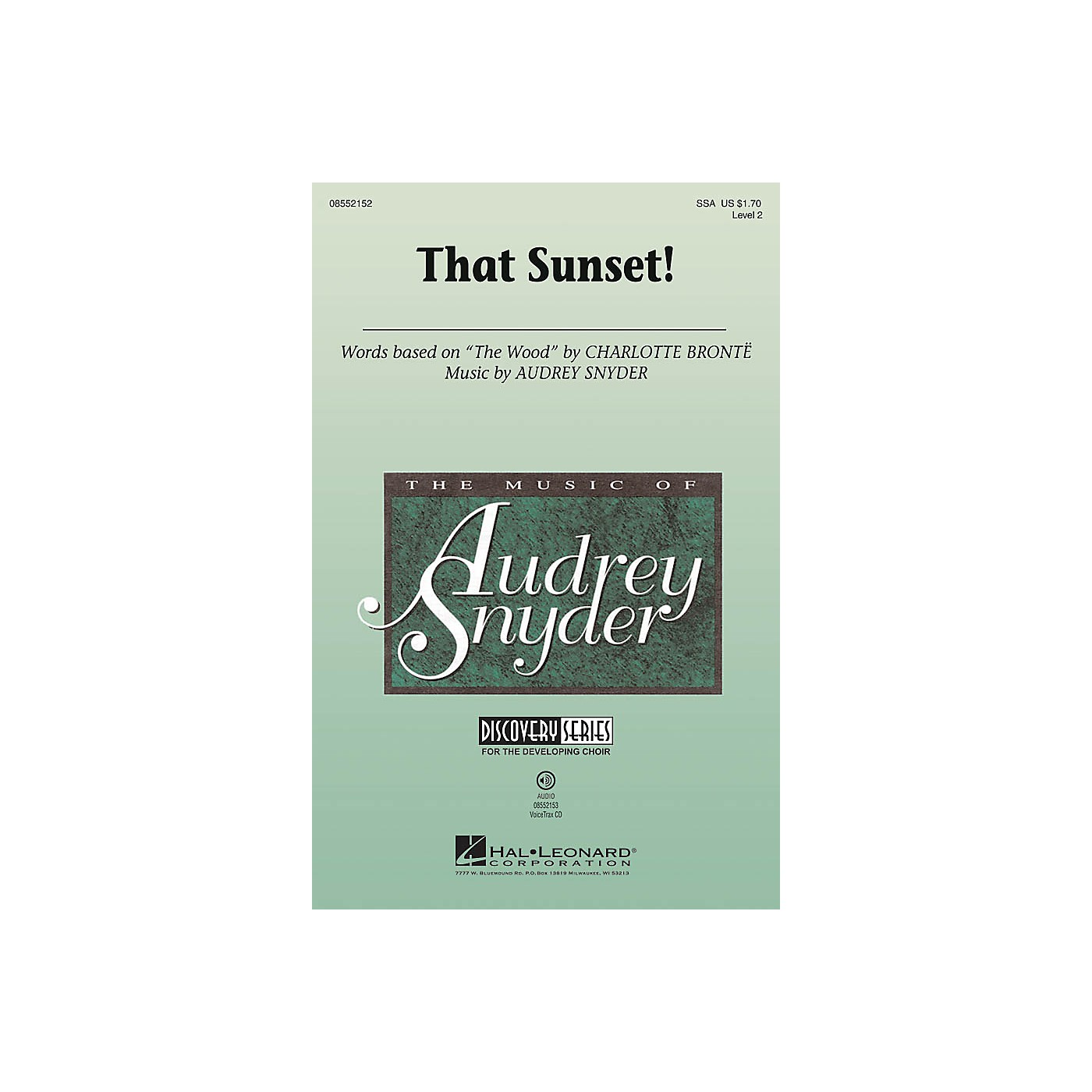 Hal Leonard That Sunset! (Discovery Level 2) VoiceTrax CD Arranged by Audrey Snyder thumbnail