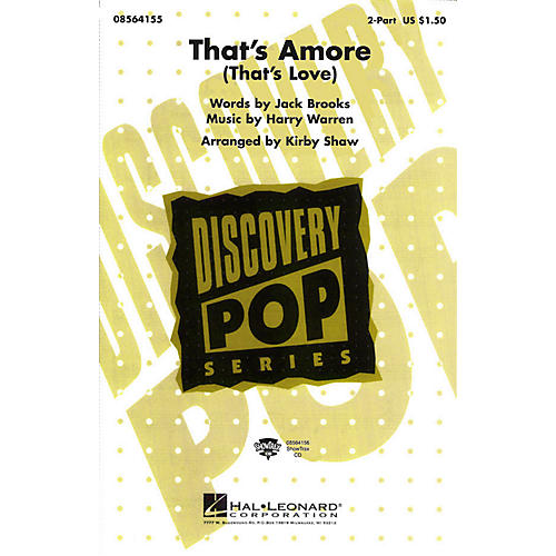 Hal Leonard That's Amoré (That's Love) 2-Part arranged by Kirby Shaw thumbnail