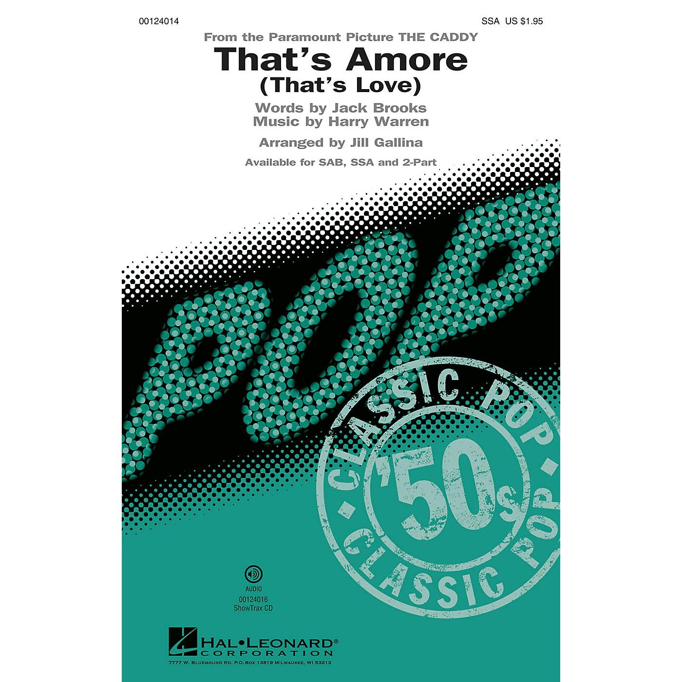 Hal Leonard That's Amoré (That's Love) SSA by Dean Martin arranged by Jill Gallina thumbnail