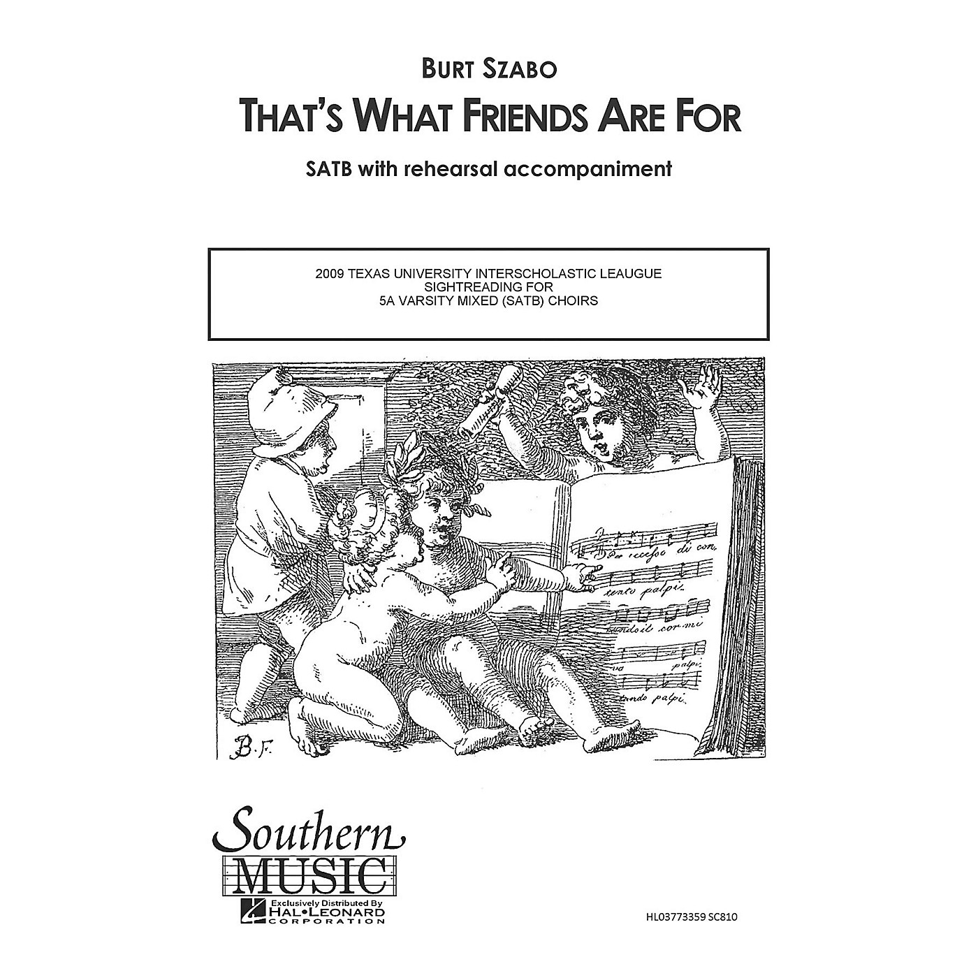 Southern That's What Friends Are For SATB by Dionne Warwick Arranged by Burt Szabo thumbnail