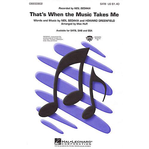 Hal Leonard That's When the Music Takes Me SATB by Neil Sedaka arranged by Mac Huff thumbnail